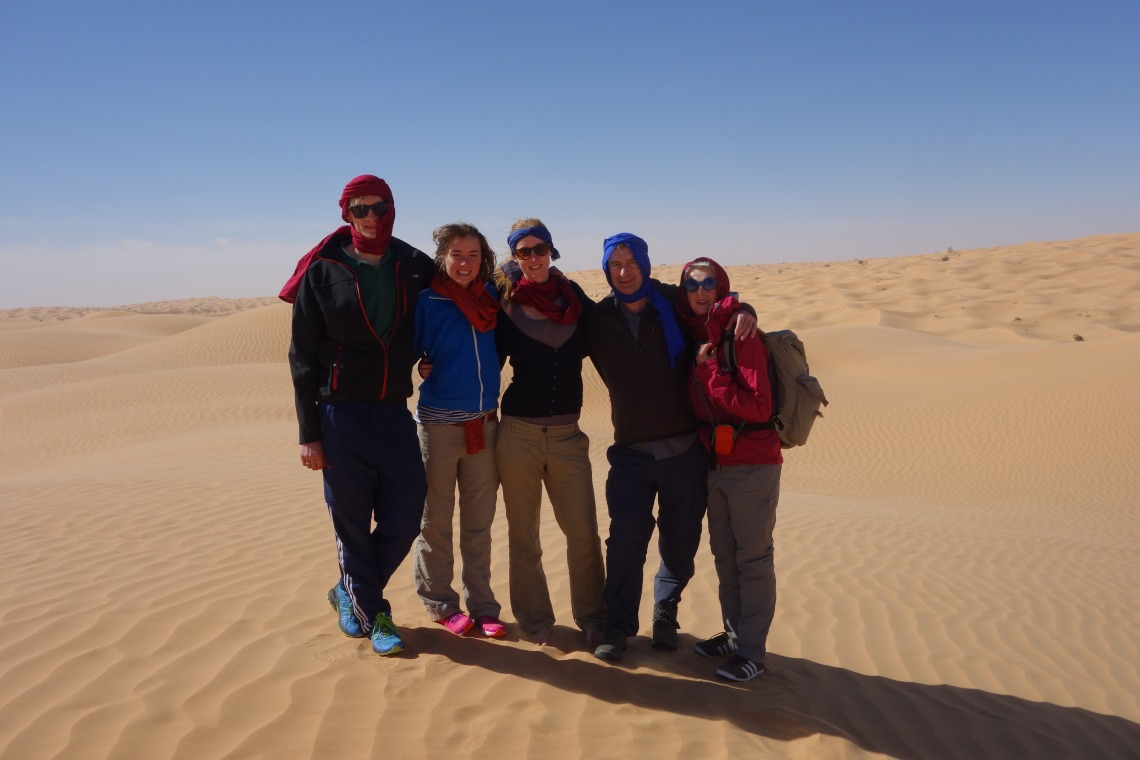 Family at Sahara trek