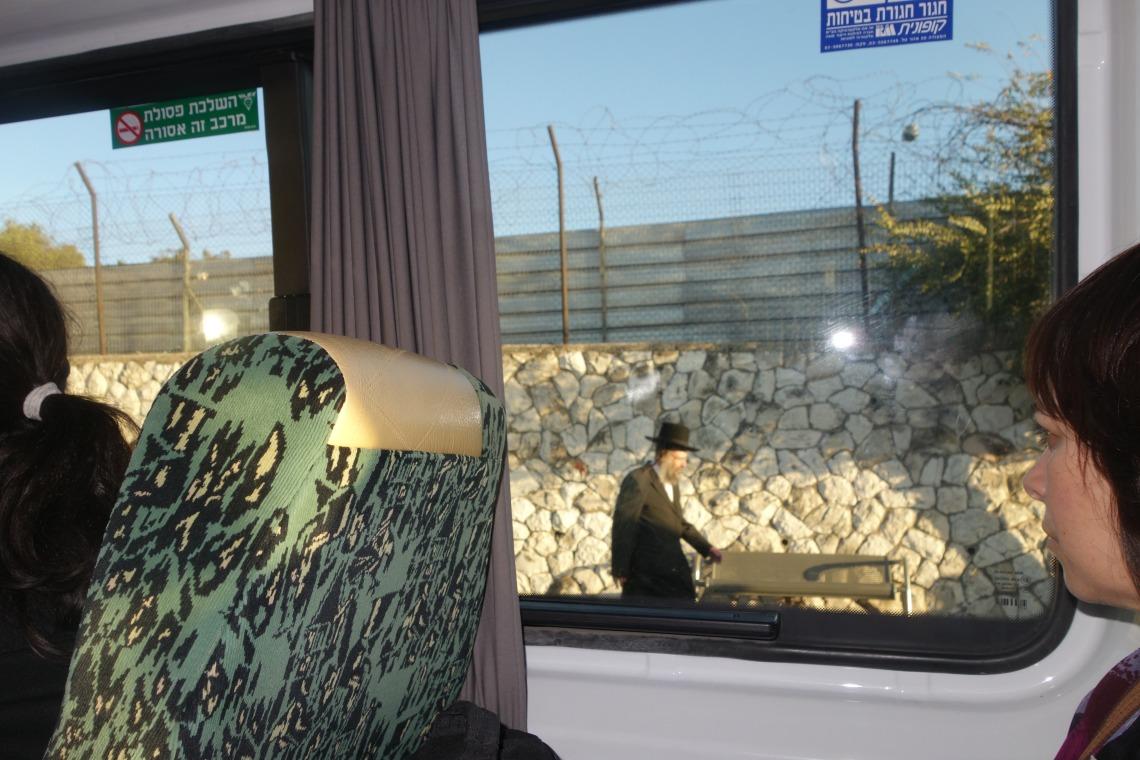 Sherut bus through Mea Shearim, Jerusalem