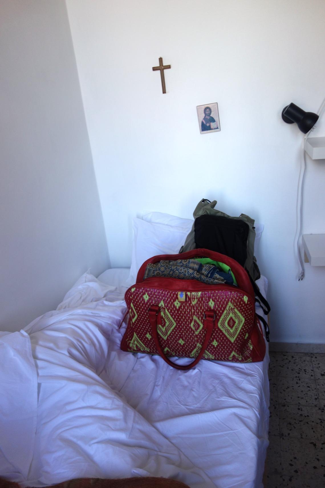 My room in Ecce Homo Convent