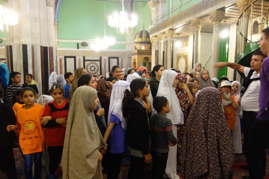 In the Ibrahimi Mosque, Hebron