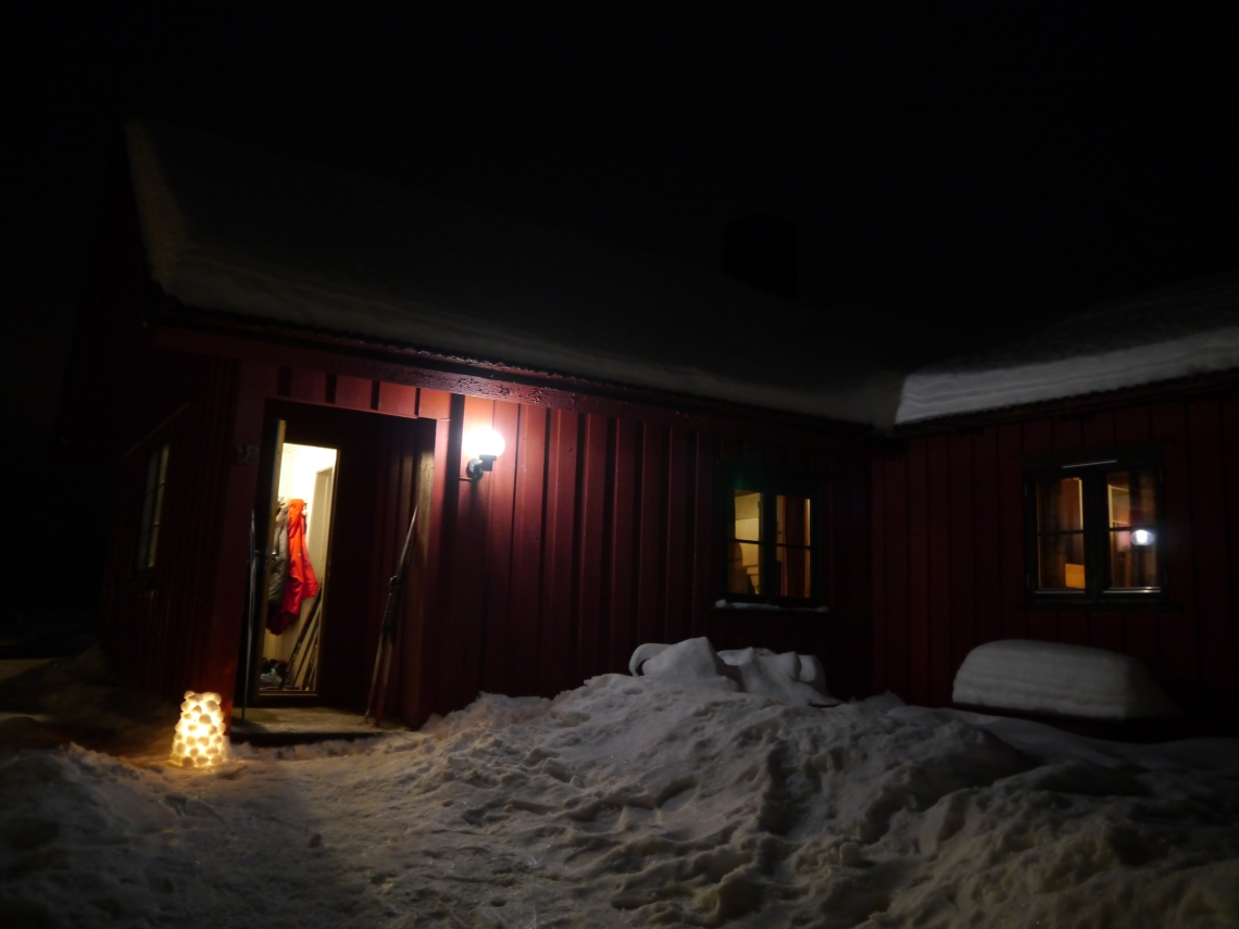 Our hut on New Year's eve