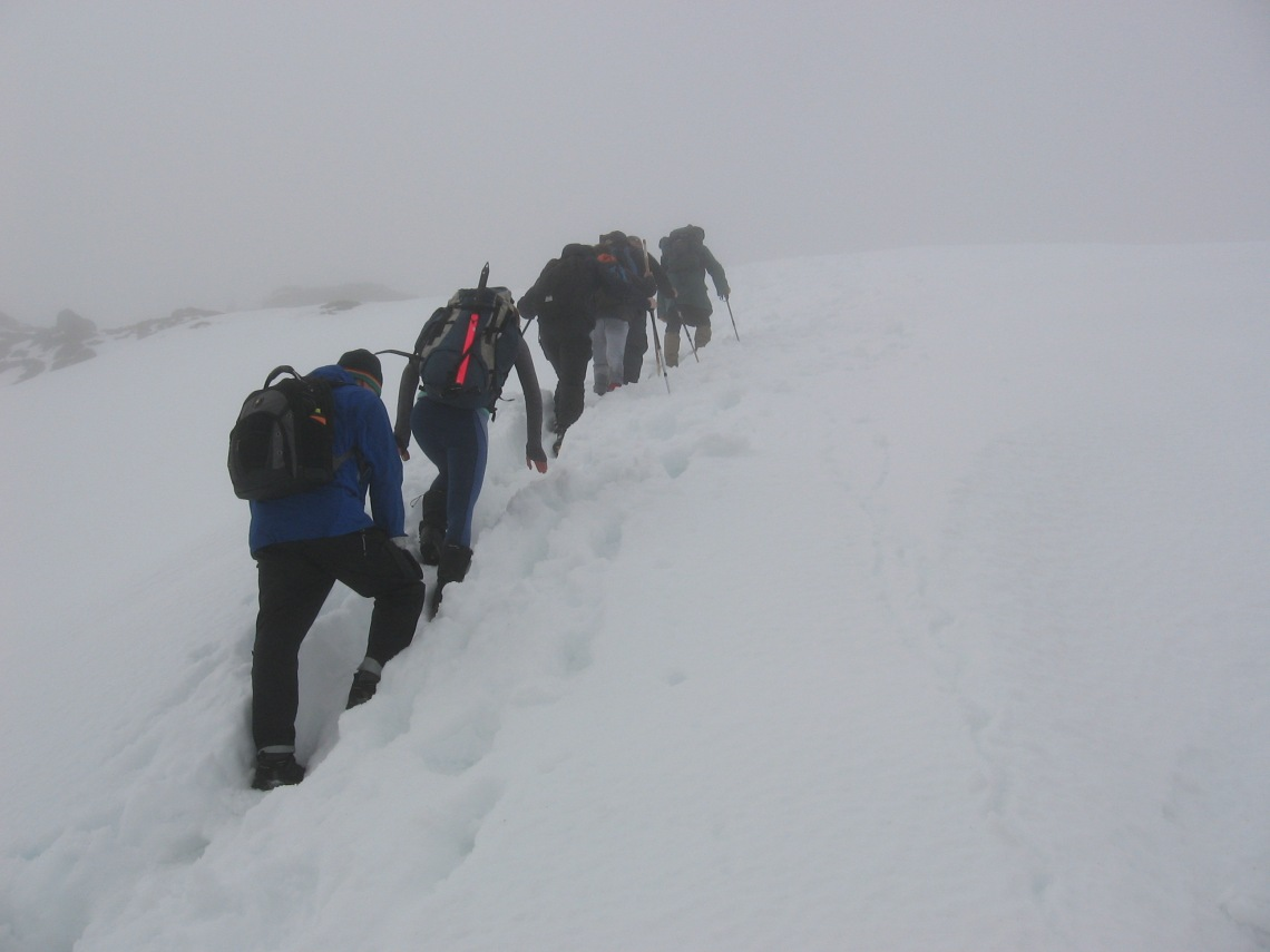 On approach to the top of Ben Vane