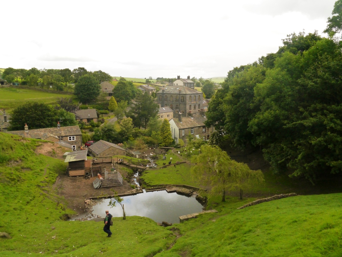 Lothersdale has the biggest water wheel in England