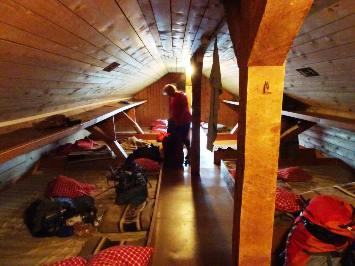 Lager in the Goeppinger Huette