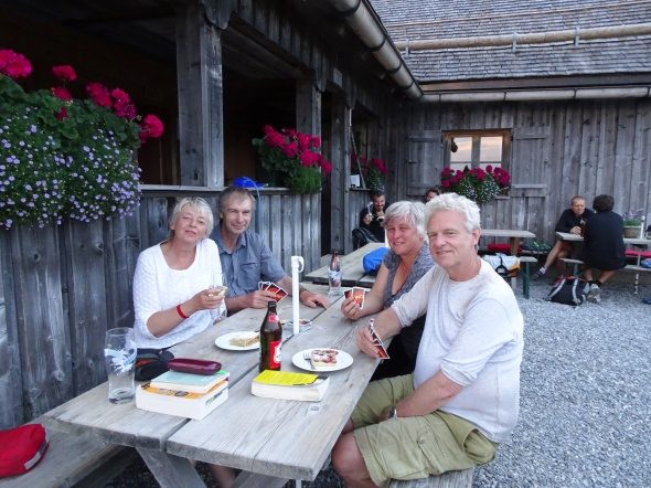 at Weissfluh Hütte