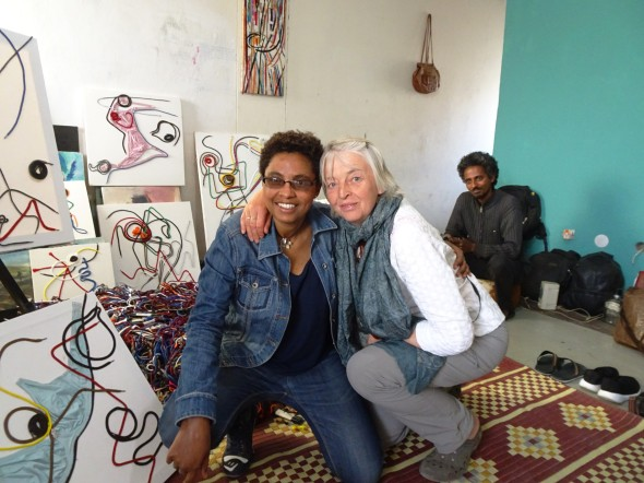 In Mirhet Kebede's studio